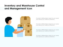 Inventory And Warehouse Control And Management Icon