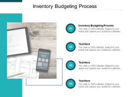 Inventory Budgeting Process Ppt Powerpoint Presentation Inspiration Microsoft Cpb