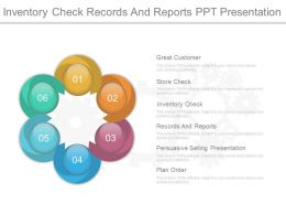Inventory Check Records And Reports Ppt Presentation