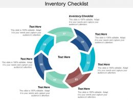 Inventory Checklist Ppt Powerpoint Presentation Icon Graphics Pictures Cpb
