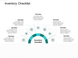 Inventory Checklist Ppt Powerpoint Presentation Infographic Template Introduction Cpb