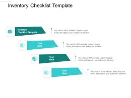 Inventory Checklist Template Ppt Powerpoint Presentation Model Clipart Cpb