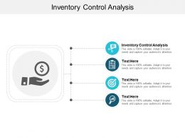 Inventory Control Analysis Ppt Powerpoint Presentation Icon Design Ideas Cpb