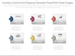 Inventory Control And Shipping Template Powerpoint Slide Images