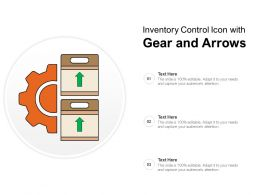 Inventory Control Icon With Gear And Arrows