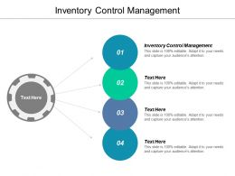 Inventory Control Management Ppt Powerpoint Presentation Gallery Clipart Images Cpb
