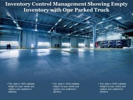 Inventory Control Management Showing Empty Inventory With One Parked Truck