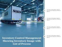 Inventory Control Management Showing Inventory Image With List Of Process