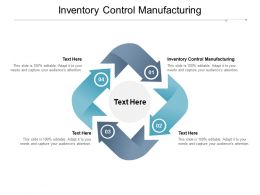Inventory Control Manufacturing Ppt Powerpoint Presentation Icon Skills Cpb