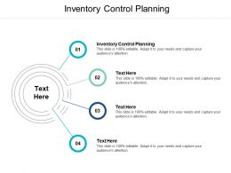 Inventory Control Planning Ppt Powerpoint Presentation Model Show Cpb