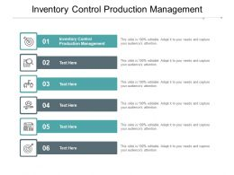 Inventory Control Production Management Ppt Powerpoint Presentation Slides Cpb
