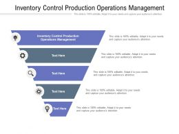 Inventory Control Production Operations Management Ppt Powerpoint Presentation Slides Cpb