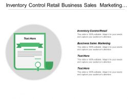 Inventory Control Retail Business Sales Marketing Surveying Employees Cpb