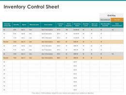Inventory Control Sheet Manufacturer Ppt Powerpoint Presentation Background Designs
