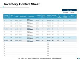 Inventory Control Sheet Ppt Show Layout Ideas