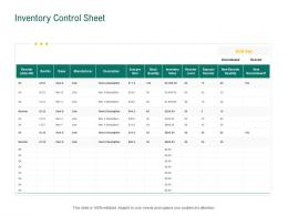 Inventory Control Sheet Retail Sector Evaluation Ppt Powerpoint Presentation Outline Show