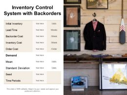 Inventory Control System With Backorders