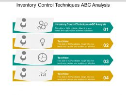Inventory Control Techniques ABC Analysis Ppt Powerpoint Presentation Inspiration Cpb
