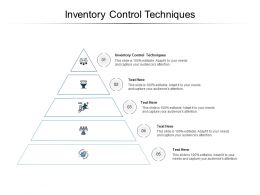 Inventory Control Techniques Ppt Powerpoint Presentation Ideas Influencers Cpb