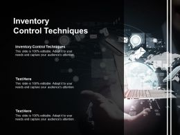 Inventory Control Techniques Ppt Powerpoint Presentation Pictures Professional Cpb