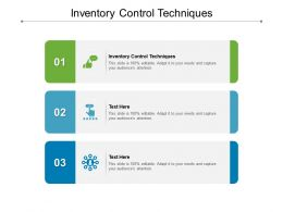 Inventory Control Techniques Ppt Powerpoint Presentation Styles Master Slide Cpb