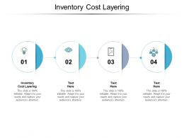 Inventory Cost Layering Ppt Powerpoint Presentation File Example File Cpb