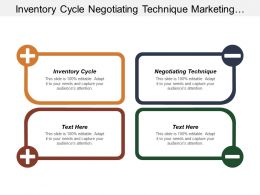 Inventory Cycle Negotiating Technique Marketing Segment Personal Development