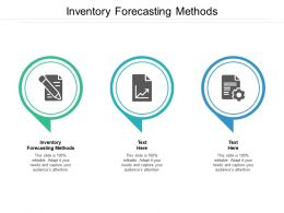 Inventory Forecasting Methods Ppt Powerpoint Presentation Professional Cpb