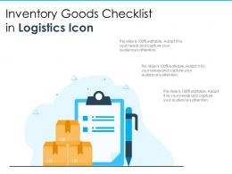 Inventory Goods Checklist In Logistics Icon