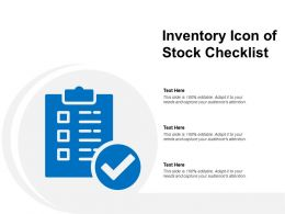 Inventory Icon Of Stock Checklist
