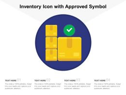 Inventory Icon With Approved Symbol