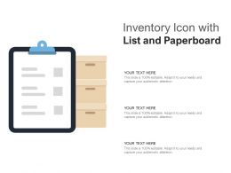 Inventory Icon With List And Paperboard
