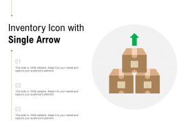 Inventory Icon With Single Arrow