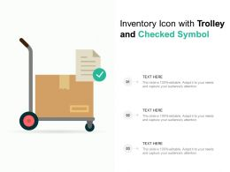 Inventory Icon With Trolley And Checked Symbol