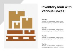 Inventory Icon With Various Boxes