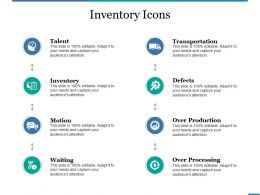 Inventory Icons Powerpoint Presentation