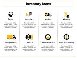 Inventory Icons Ppt Deck