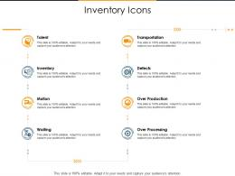 Inventory Icons Supply Chain Inventory Optimization Ppt Icon Visual Aids