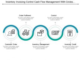 Inventory Invoicing Control Cash Flow Management With Circles And Icons