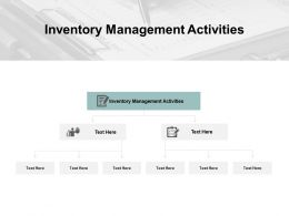 Inventory Management Activities Ppt Powerpoint Presentation Icon Cpb