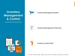 Inventory Management And Control Management System  Ppt Powerpoint Slides