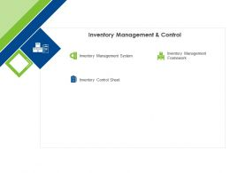 Inventory Management And Control Ppt Powerpoint Presentation Infographics Portfolio