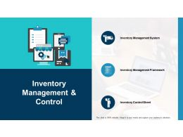 Inventory Management And Control Ppt Show Maker