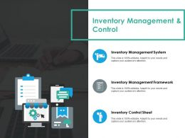 Inventory Management And Control Ppt Styles Slide Portrait