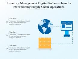 Inventory Management Digital Software Icon For Streamlining Supply Chain Operations