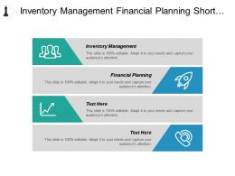 Inventory Management Financial Planning Short Term Small Business Financing Cpb