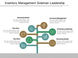Inventory Management Goleman Leadership Hierarchy Needs Leading Management Cpb