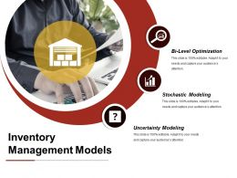Inventory Management Models Powerpoint Slide Deck Samples