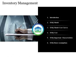 Inventory Management Powerpoint Slide Deck Template
