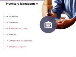 Inventory Management Ppt Sample Presentations